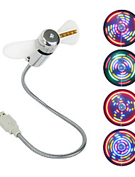 USB Mini Fan LED Fan with 64 Colorful LED Patterns Circular Display