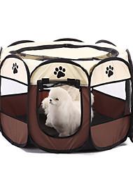 Недорогие -Собака Кровати Животные Корзины Однотонный Footprint / Paw Теплый Складной Кофейный Красный Для домашних животных