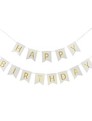 Happy Birthday Paper Letters Banner Hanging 12.5*15cm Garlands Birthday Pink Gitter Gold Bunting Party Supplies