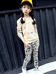 Girls' Print Sleepwear-Cotton-Spring Fall Long Sleeve
