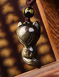 cheap -DIY Automotive Pendants  Obsidian Jinyao Stone  Car Pendant & Ornaments  Jade Crystal