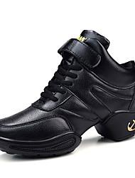 Da donna Sneakers da danza moderna Cuoio Sneakers Principiante Quadrato Nero 2,5 - 4,5 cm