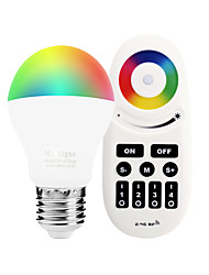 6W E27 LED Smart Bulbs A60(A19) 14 leds SMD 5050 Infrared Sensor Dimmable Remote-Controlled WIFI APP Control Light Control RGB+White 600