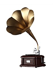 cheap -Music Box Holiday Decorations Toys Retro Furnishing Articles Phonograph Costume Iron Metal Pieces Kid Unisex Gift