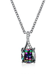 Women's Pendant Necklaces Cubic Zirconia Drop Zircon Fashion Jewelry For Party Daily Casual Office & Career