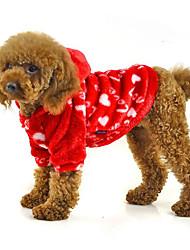 Hund Kapuzenshirts Hundekleidung Lässig/Alltäglich Herzen Purpur Rot Blau Rosa