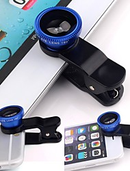 cheap -Universal 3in1 Clip On Camera Lens Kit Wide Angle Fish Eye Macro For Smart Phone