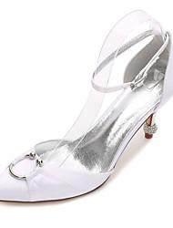 baratos -Mulheres Sapatos Cetim Primavera / Verão Plataforma Básica / D'Orsay / Conforto Sapatos De Casamento Salto Cone / Salto Baixo / Salto