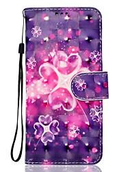 Per la galassia a5 (2017) a3 (2017) di Samsung samsung caso di cuoio del cuoio materiale magico materiale del fiore modello 3d pittura
