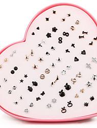 Beadia 36 Pairs Plastic Stud Earrings Set For Women