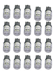 1W High Power T10 1LED Diamond Mirror Car Light White/Yellow/Green/Ice-blue light DC12V 20Pcs