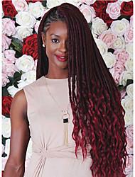 Goddess Faux Locs Crochet Hair Curly weave Ends 22inch Crochet Braids Hair Extension heat resistant Fiber Synthetic Hair For Braiding Dreadlocks Hair