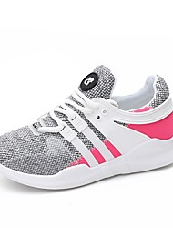 Women's Athletic Shoes Comfort Light Soles Knit Summer Fall Casual Outdoor Flat Heel Blushing Pink Gray Black Flat