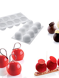 1PCS Silicone Round Ball Shape Non-Stick Truffles Chocolate Mold For Fondant Soap Jelly Pudding Candy Mould Cake Decorating Tool