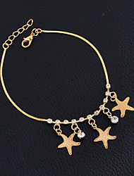 cheap -Women's Girls' Anklet / Bracelet Alloy Vintage Friendship Handmade Hip-Hop Fashion Gothic Punk Star Jewelry For Wedding Party New Baby