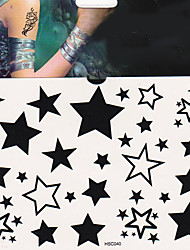 cheap -1Pc Fashion Star Tattoo Stickers Temporary Tattoos