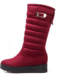 cheap -Women's Shoes Nubuck leather Winter Comfort Snow Boots Boots For Casual Black Red Blue