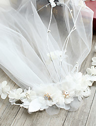 cheap -Tulle Imitation Pearl Lace Silk Net Alloy Flowers Hair Clip 1 Wedding Special Occasion Party / Evening Headpiece