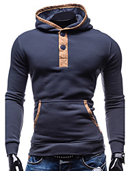 Men's Daily Sports Going out Street chic Hoodie Color Block Hooded Micro-elastic Cotton Polyester Long Sleeve Winter Fall