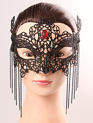 Black Mask Sexy Lace Halloween Party Fancy Lace Female Tassel Crystal Mask Lingerie Lace Mask Party