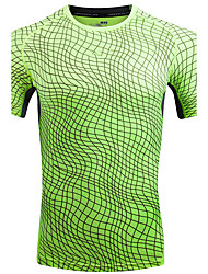 New Arrival Men's Plus Size Casual/Daily Simple Active Spring Summer Fall T-shirtSolid Print Camouflage Round Neck Short Sleeve Cotton Polyester Thin