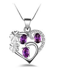 Недорогие -Жен. Сердце Синтетический алмаз Сплав Ожерелья с подвесками - Сплав На заказ Классика Мода Сердце Ожерелье Назначение Для вечеринок