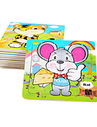 cheap -Jigsaw Puzzle Wooden Puzzles Educational Toy Mouse Fruit Wooden Wood Anime Cartoon 6 Years Old and Above