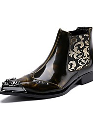 cheap -Men's Boots Amir's Fashion Boots Cowhide Leather Party & Evening Buckle Metallic toe Limited Edition
