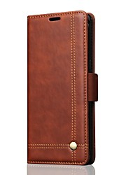 cheap -Case for Samsung Galaxy Note 8 Cover Card Holder  Wallet with Stand Flip Full Body Case Solid Color Hard Retro Lines PU Leather for Samsung