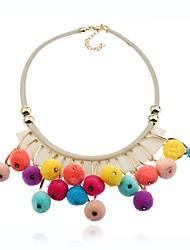 cheap -Women's Geometric Luxury Punk Statement Jewelry Elegant Multi Layer Statement Necklace Jewelry Flannelette Alloy Statement Necklace ,