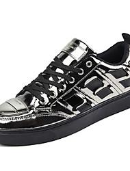 economico -Da uomo Sneakers Comoda Suole leggere Paillette Estate Autunno Casual Footing Lustrini Punta metallica Piatto Nero Argento Rosso Piatto