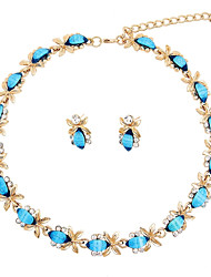 cheap -Women's Necklace Fashion Wedding Party Engagement Gift Ceremony Rhinestone Gold Plated
