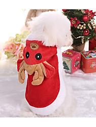 baratos -Cachorro Colete Roupas para Cães Formais Vermelho Algodão Ocasiões Especiais Para animais de estimação Homens / Mulheres Natal