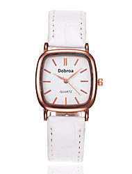 Women's Fashion Watch Chinese Quartz Leather Band Elegant Black White Brown