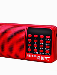 F3 Portable Radio MP3 Player FlashLight TF CardWorld ReceiverBlue Ruby