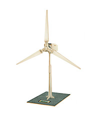 cheap -Toy Car Solar Powered Toy 3D Puzzle Jigsaw Puzzle Windmill Wood Model Windmill Solar Powered DIY Wooden Wood Classic Kid's Gift