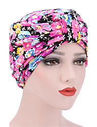 cheap -Women's Fashion Floral And Colorful Solid  Floppy Bucket Turban Hat & Cap
