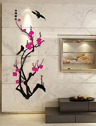 abordables -Autocollants muraux décoratifs - Autocollants avion Abstrait Personnage A fleurs / Botanique Salle de séjour Chambre à coucher Salle à