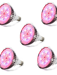 E27 LED Grow Lights 120 SMD 5730 4000-5000 lm Warm White Red Blue UV (Blacklight) K AC85-265 V