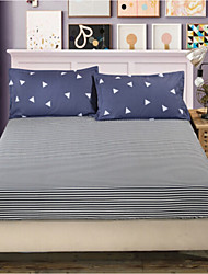 Stripe Poly/Cotton Fitted Sheet