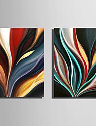 abordables -Pintura al óleo pintada a colgar Pintada a mano - Abstracto Abstracto Lona