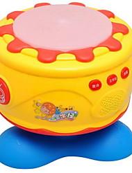 Недорогие -Игрушечные инструменты Игрушки Круглый Барабанная установка Игрушки Пластик Куски Дети Подарок