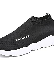 Men's Loafers & Slip-Ons Comfort Spring Fall Knit Casual Outdoor Flat Heel Black Gray 3in-3 3/4in