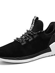 Недорогие -Для мужчин Кеды Для тенниса Удобная обувь Замша Осень Зима Атлетический Повседневные На эластичной ленте На плоской подошве Черный Серый