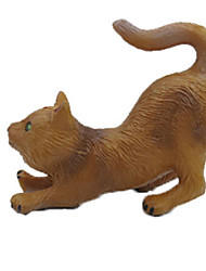 abordables -Figurines d'Animaux Jouets Canard Chat Animal Animaux Simulation Articles d'ameublement Caoutchouc silicone Adolescent Pièces
