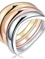 女性用 男性用 指輪石座 バンドリング 指輪ベーシック ユニーク 幾何学形 友情 ヒップホップ マルチの方法が着用します かわいいスタイル 欧米の DIY ゴシック 映画ジュエリー 高級ジュエリー ステートメントジュエリー シンプルなスタイル アメリカ 耐久 Elegant