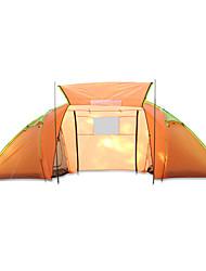 Недорогие -4 человека Туристическая палатка-хижина Семейный кемпинг-палатка На открытом воздухе Водонепроницаемость Дожденепроницаемый Быстровысыхающий Двухслойные зонты Палатка >3000 mm для Отдых и Туризм