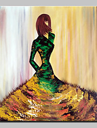 cheap -Large Size Hand Painted Modern Abstract Fashion Girl Oil Painting On Canvas Wall Art Picture For Home Decor No Frame