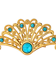 baratos -Turquesa Broches - Chapeado Dourado Flor, Pavão Personalizada, Fashion Broche Branco / Rosa / Preto Para Presente / Escritório e Carreira