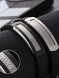 cheap -A couple of male and female personality jewelry titanium bracelet fashion simple style bracelet silicone bracelet